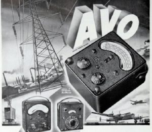 avo-multimetro analogico antiguo